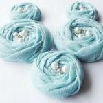 Blue Cotton Roses Handmade ..