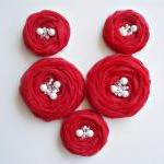 Red Roses Handmade Appliqu..