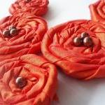 Orange Red Roses Handmade A..